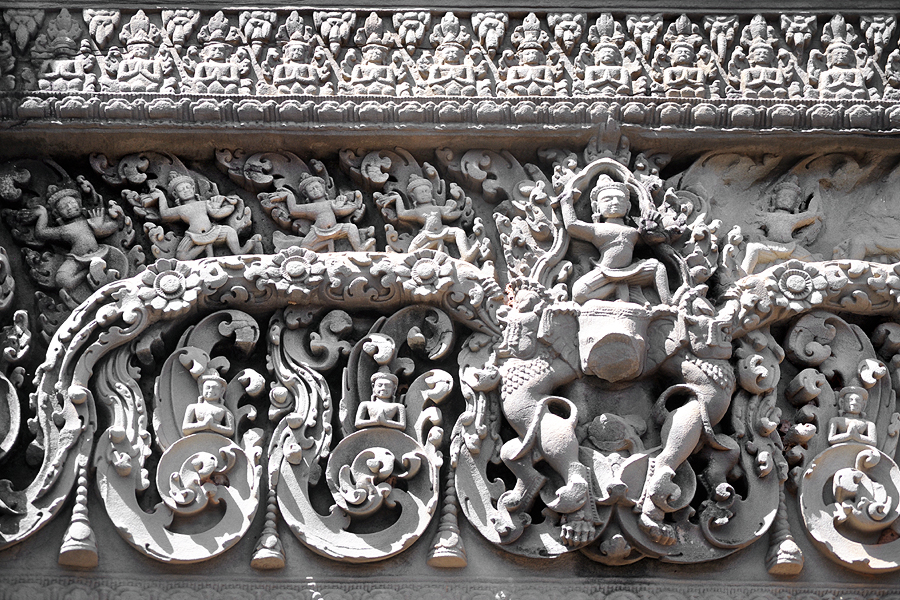 East Mebon lintel carving